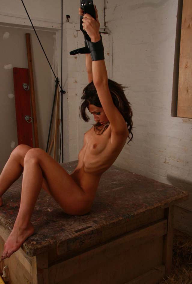 Thin girl in bondage
